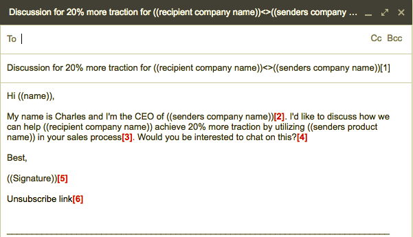 cold email example, cloudlead : Cloudlead Blog: