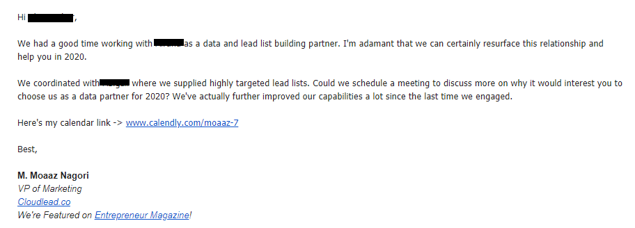 cloudlead follow up email moaaz